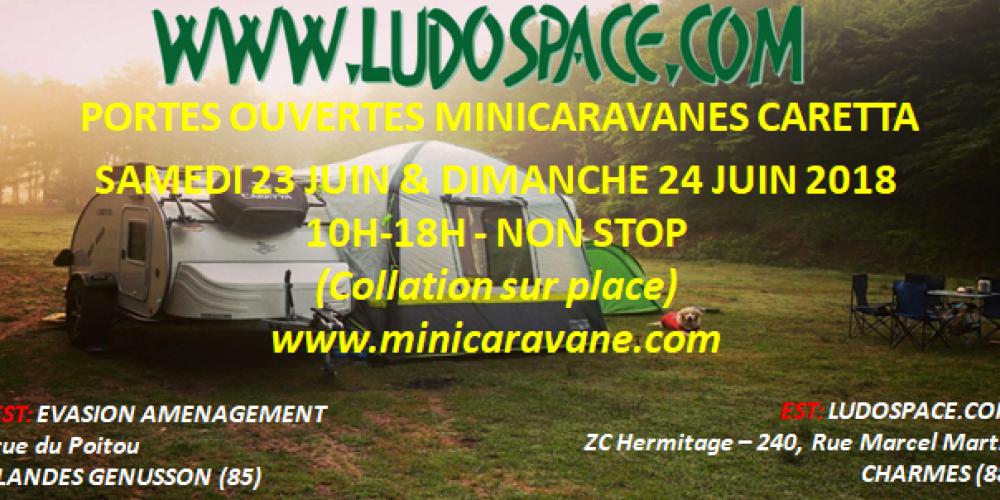Portes ouvertes chez LUDOSPACE le samedi 23 et le dimanche 24 Juin 2018 !