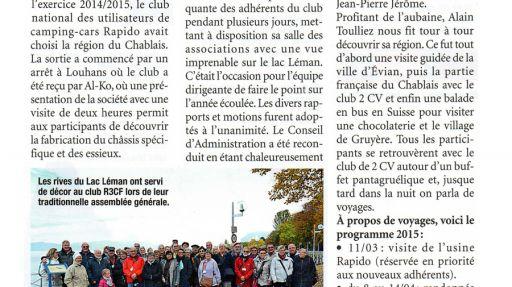 Le R3CF dans le Chablais Savoyard