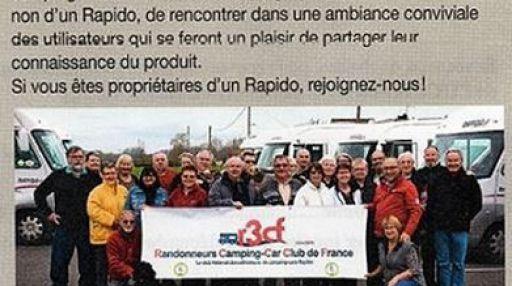 Rapido Camping-Car Club de France, Salon VDL 2015