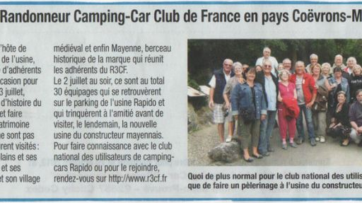 Randonnée dans la Mayenne 2012